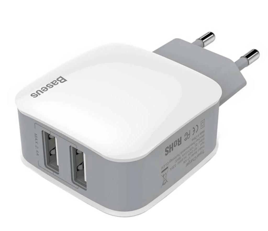 Baseus iPhone/iPad USB oplader 2.4A x2 (12W)